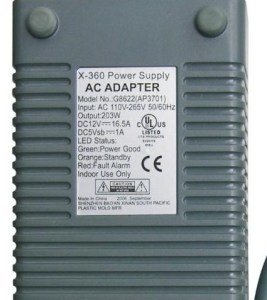 xbox 360 power supply specs