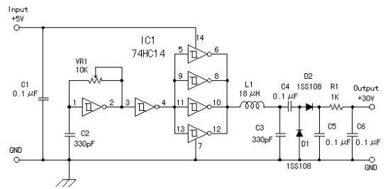DC to DC Converter 5V to 30V - Power Supply Circuits Dc To Converter Schematic on