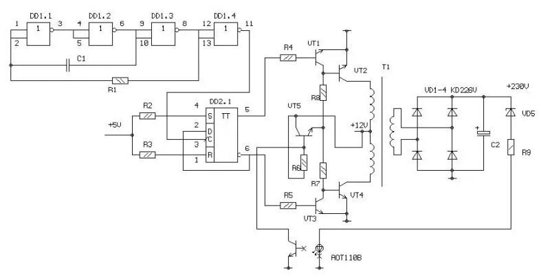 5 volt to 230 volt voltage converter
