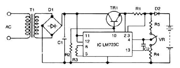 constant voltage current limited charger power supply circuits