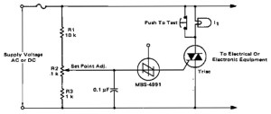 Electronic crowbar for AC and DC lines