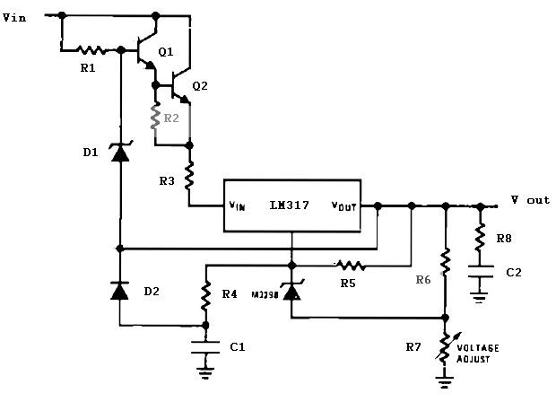Super High Voltage Regulator Circuit Basic Electronics Wiring Diagram Wiring Database Xlexigelartorg