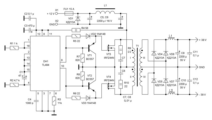 dc to dc converter 12v to 38v power supply circuits rh powersupply33 com Light Switch Wiring Diagram Basic Electrical Schematic Diagrams