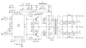 DC to DC Converter 12V to ± 38V - Power Supply Circuits