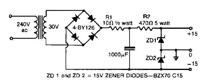 Dual polarity power supply Power Supply Circuits