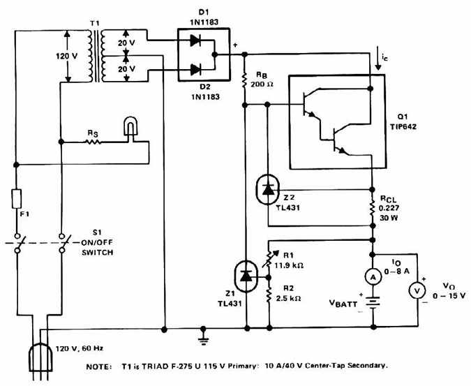 Lead Acid Battery Charger With Current Limit Power