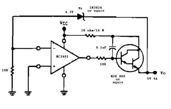 5 V 4 A regulator