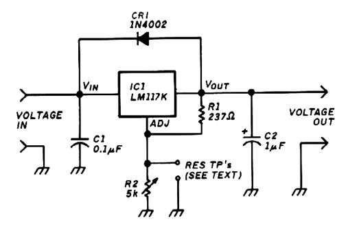 Variable voltage regulator base LM117