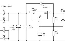 Single Output Power Supply +1.25 V to 28 V / 1A Based on LM317