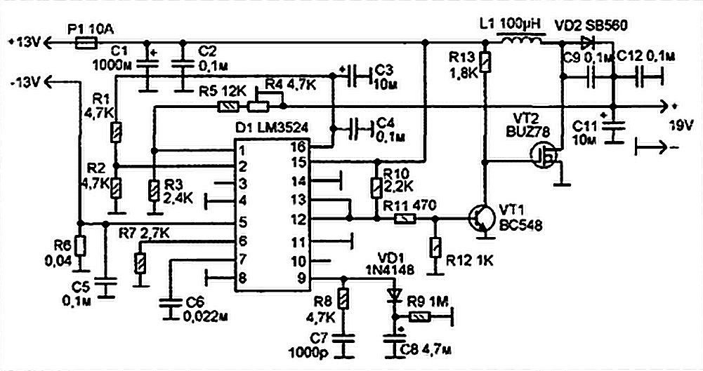 car circuit diagram ic l9302 car dc to dc converter for laptops - power supply circuits mobile power ic circuit diagram