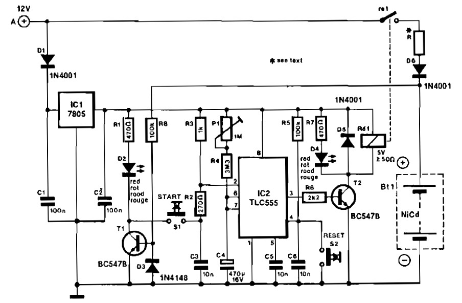 Mobile Nicd charger circuit