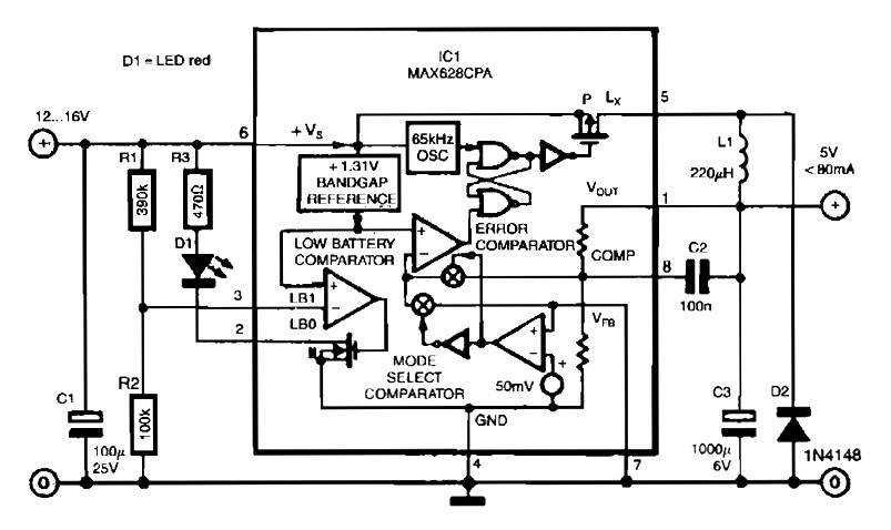 switch mode voltage regulator with 85% efficiency power supplyswitch mode voltage regulator with 85% efficiency