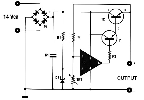 Circuit Diagram Of 12V Battery Charger | Automatic Battery Charger 14 15v Input With 3a Max Current Power