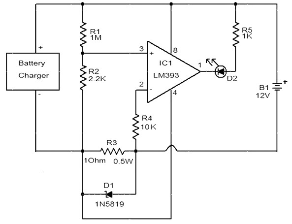 Battery Charger Indicator Circuit Power Supply Circuits