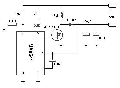converter 3v to 5v power supply circuits