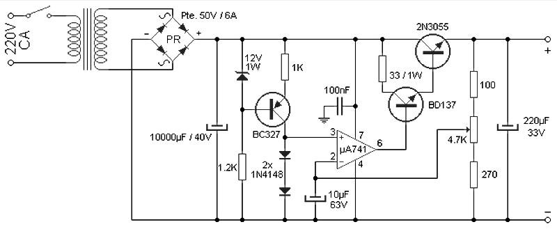 adjustable 4 a 25 v power supply