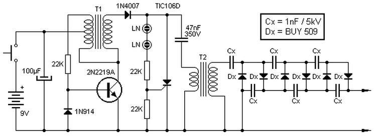 Converter-9V-to-13.5kV-circuit Transistor Inverter Circuit Schematic on transistor gate, transistor circuit design, transistor latch circuit schematic, transistor circuit diagram, 12v to usb schematic, transistor voltage amplifier circuit, usb charge port schematic,