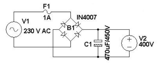 Simple 400v Dc Power Supply