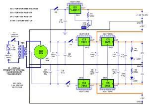 Triple output DC powersupply circuit