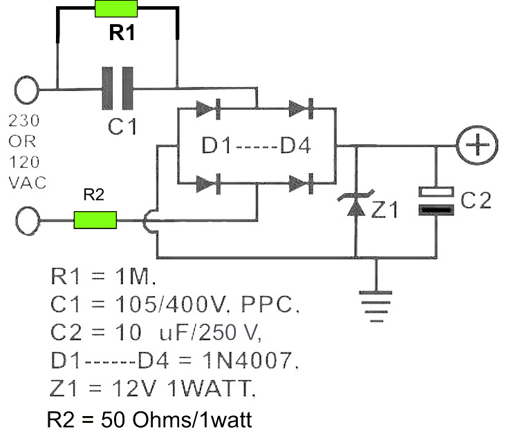 Circuit Diagram 12v Dc Power Supply - Data Wiring Diagram