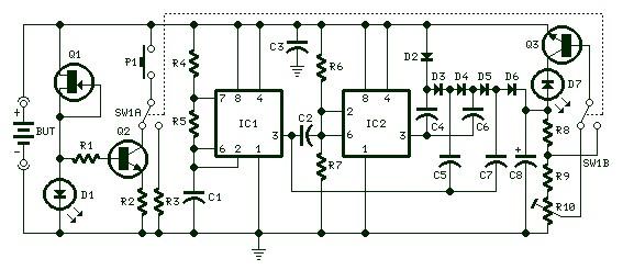 self powered battery tester power supply circuits rh powersupply33 com Battery Capacity Tester DC Battery Tester