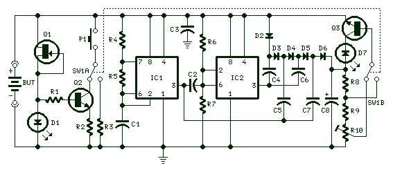 How To Build Self Powered Fast Battery Tester Schematic - Wiring