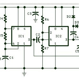 Self Powered Battery Tester Schematic Diagram