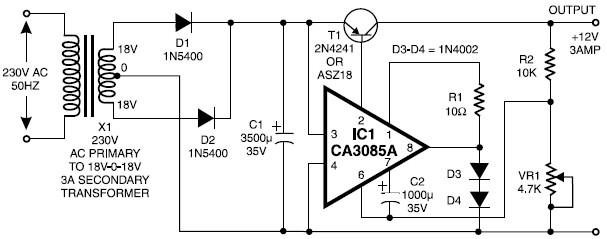 12v 3a regulated power supply circuit True Bypass Switch Wiring Diagram 12v 3a regulated power supply scheme diagram