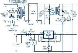 Auto Switch-Off Power Supply (Variable Output 3.7V to 8.7V)