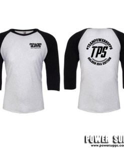 Power Supps AS Colour Raglan 3/4 Sleeve Black/White X Large