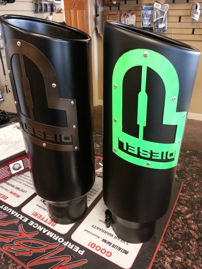powertech diesel custom exhaust tip