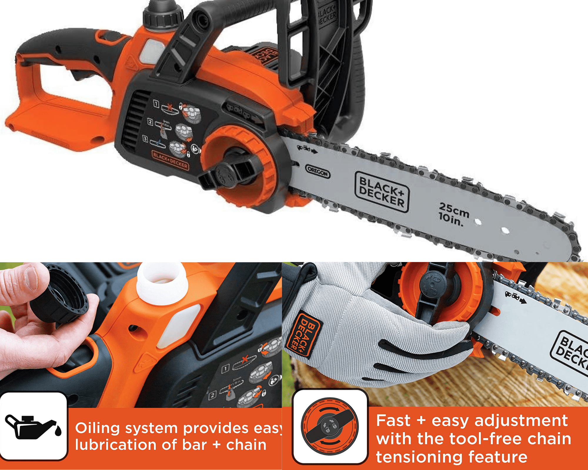 Black-and-Decker-power-chainsaw