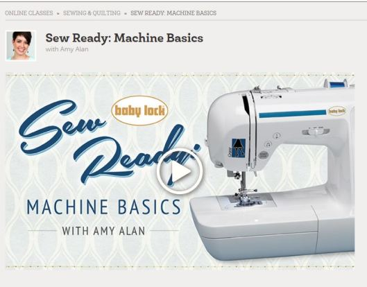 Craftsy Sewing Basics Class