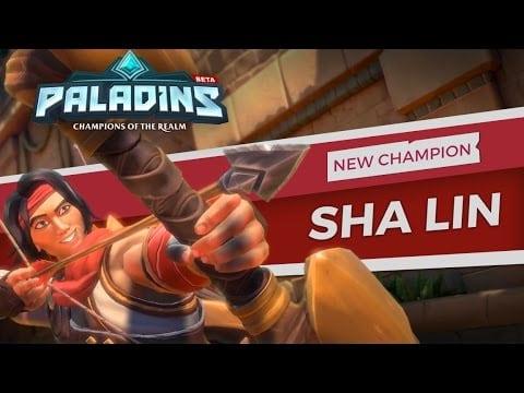 Paladins new champion is Sha Lin the Desert Wind