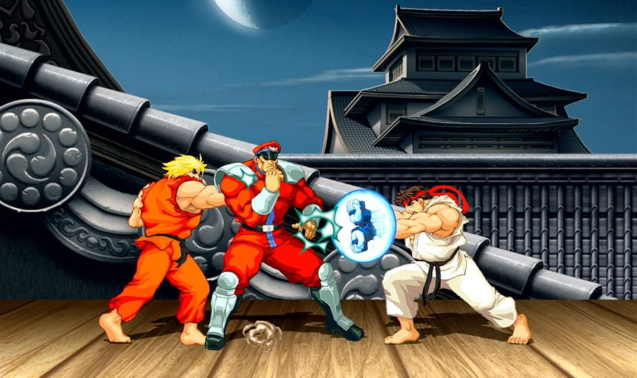 Ryu and Ken fight Bison on his own level! Come on!!