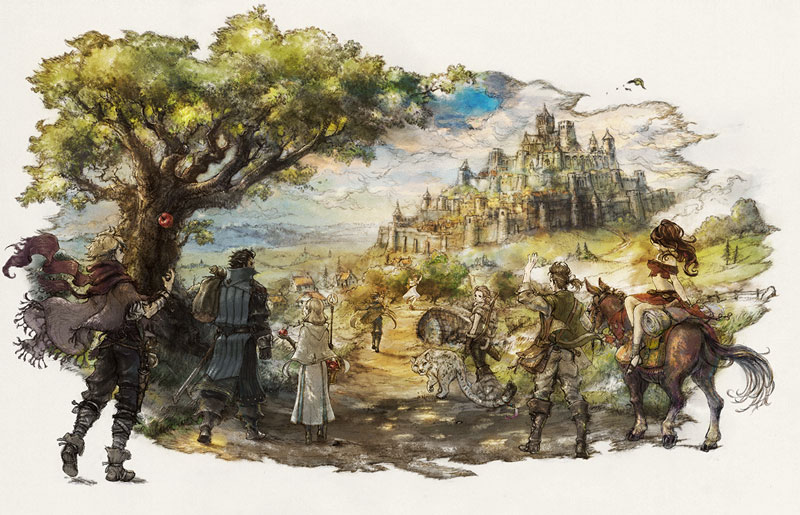 Image result for octopath traveler cover art