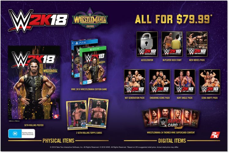 Preorder WWE 2K18 WrestleMania Edition from today
