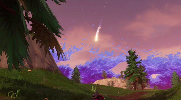 Meteors have started raining down in Fortnite
