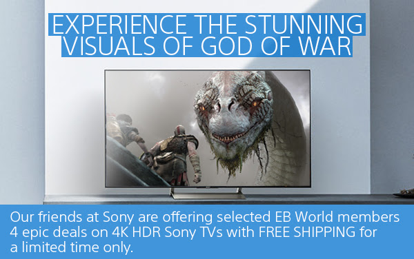 EB Games and Sony have teamed up to offer insane deals on 4K HDR TVs