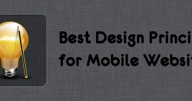 Design Principles for Mobile Website