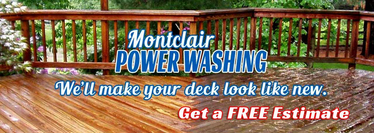 Power Washing Decks - Montclair, New Jersey