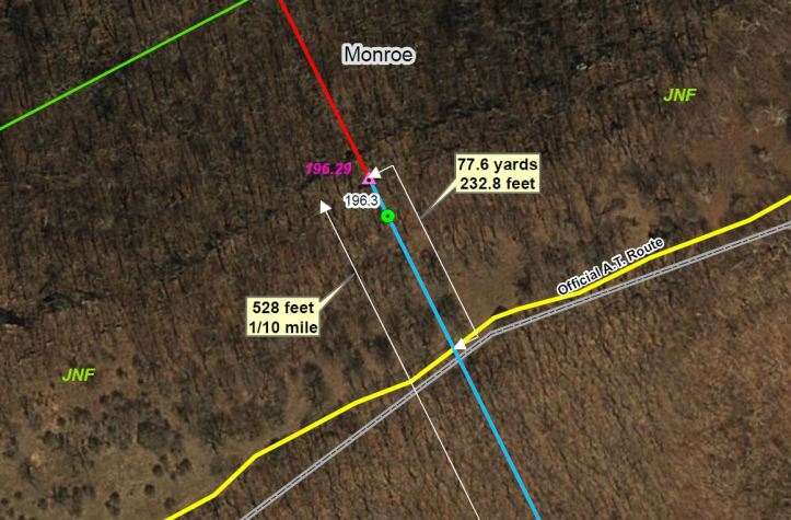 Map of Peters Mountain and Appalachian Trail
