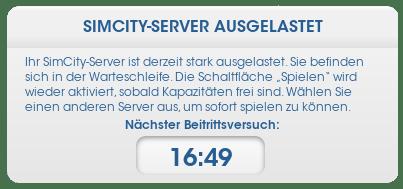 SimCity_Warteschlange