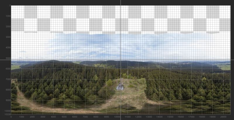 panorama ohne zenit