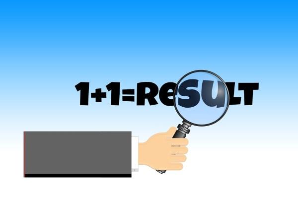 1+1 equals result