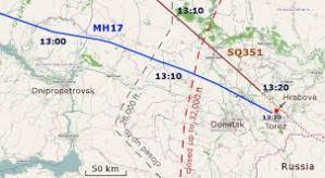 MH17 Fli Path