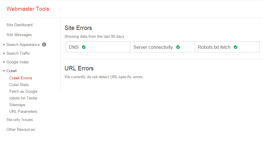 google-webmaser-check-crawl-errors