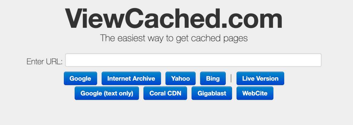 ViewCached - Finding Lost Webpages