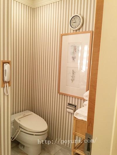 帝国ホテル大阪宿泊感想お部屋のトイレ