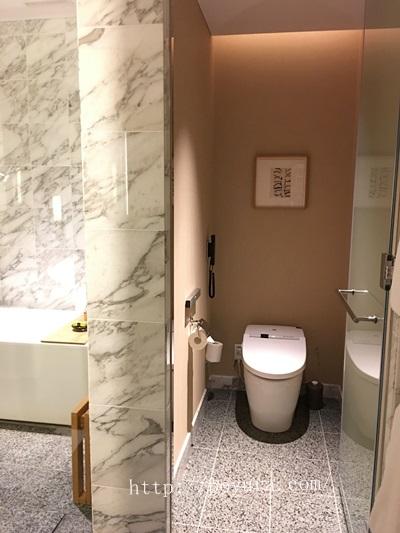インターコンチネンタルホテル大阪宿泊記トイレ